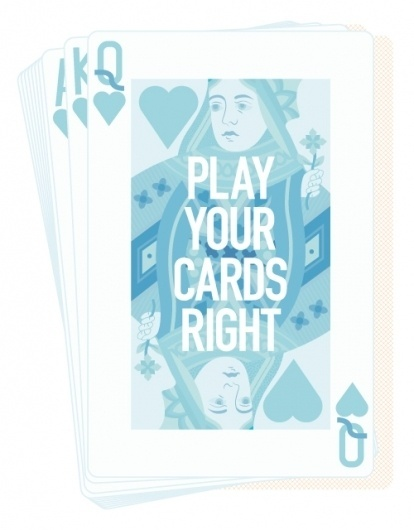 ANONYMOUS MAG #right #deck #graphic #feminine #queen #illustration #play #blue #cards