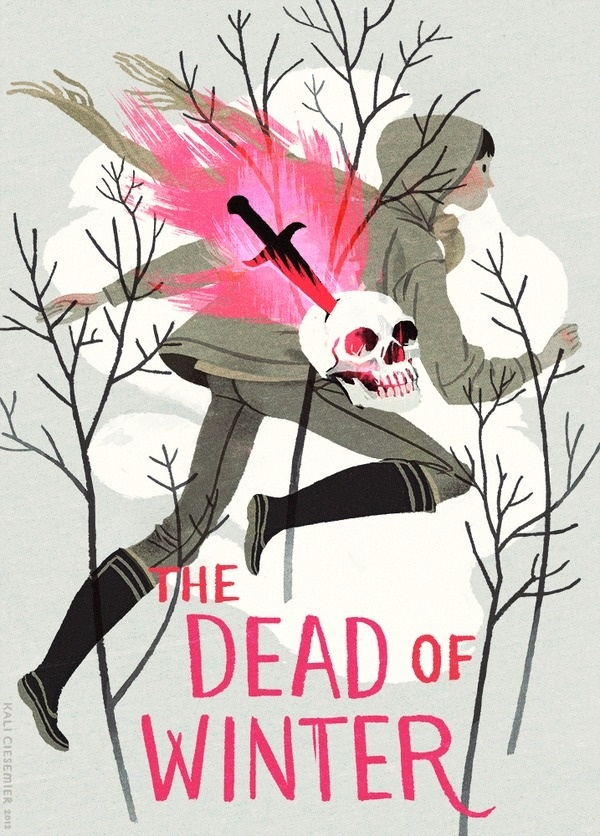 kalidraws:I made an imaginary mystery book cover for fun! (though it'd probably be spookier if it was still winter around here!) #illustration
