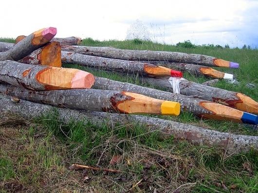 - STREET ART UTOPIA #wood #colored #photography #art #pencils