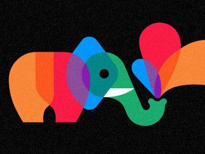 Playful Pachyderm by Chris Parks #illustration #parks #chris #elephant