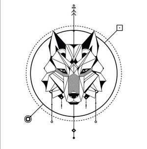 Another geometric wolf :: Tattoo design in Form