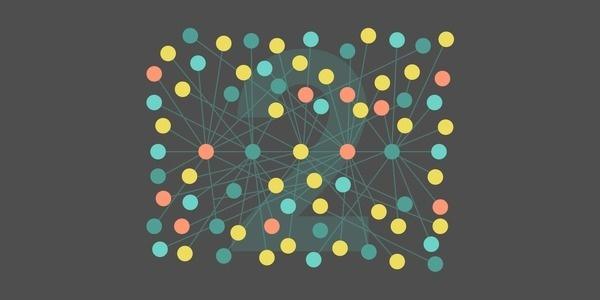 Network #flat #vector #lines #cloud #dots #illustration #network #web