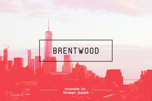 Brentwood Font