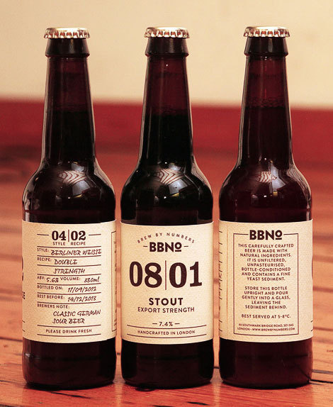 Brewing by Numbers Labels #packaging