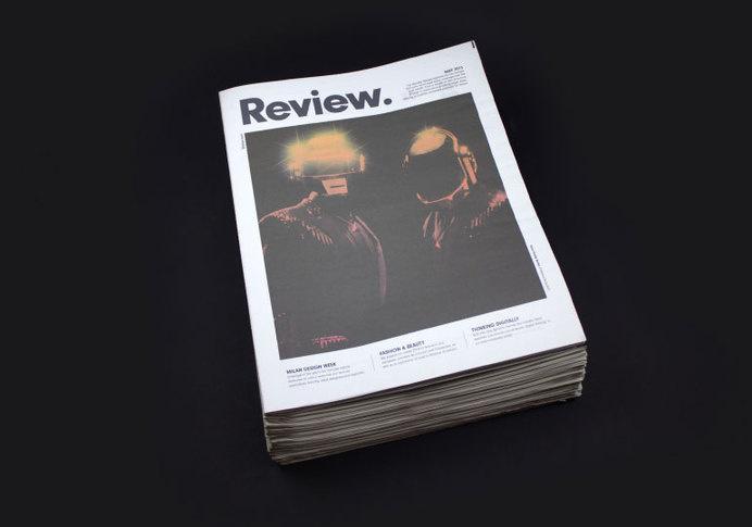 Review newspaper #print #newspaper #gradient