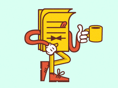 14 #character #design #illustration #coffee #paper