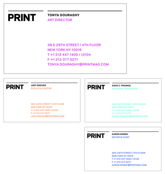 PRINT Identity #dye #business #branding #lab #print #cards #magazine