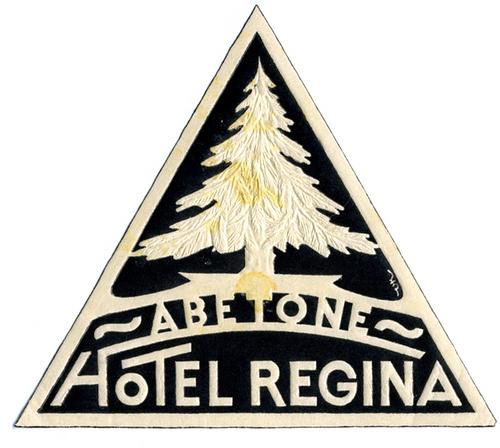Hotel Regina #tree #pin #triangle #hotel #logo