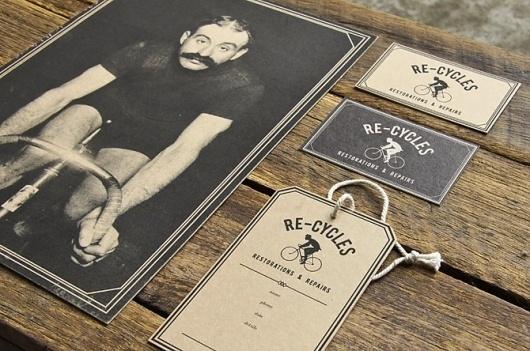 Re-Cycles Identity | Miss Design #monochrome #identity #retro