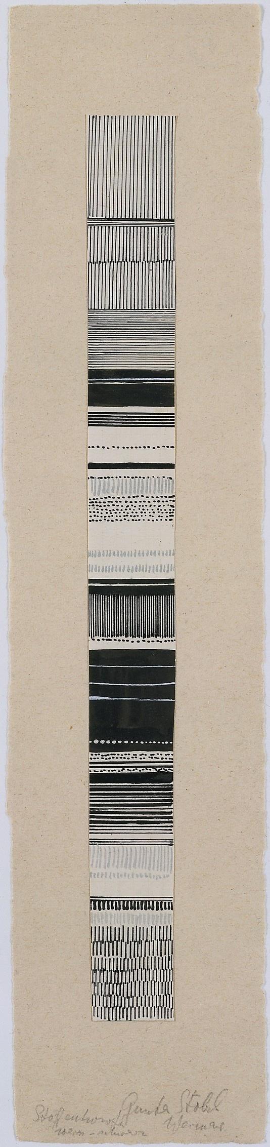 Gunta Stölzl - Watercolor and ink fabric design, 1919–1925. Bauhaus Archive. #stlzl #gunta