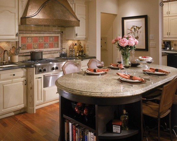 Classic kitchen with flower painting