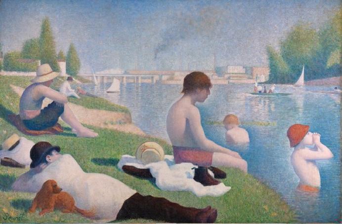 Georges Seurat, Baigneurs a Asnières, 1884