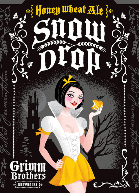 Grimm Brothers Brew Labels #packaging #beer #labels