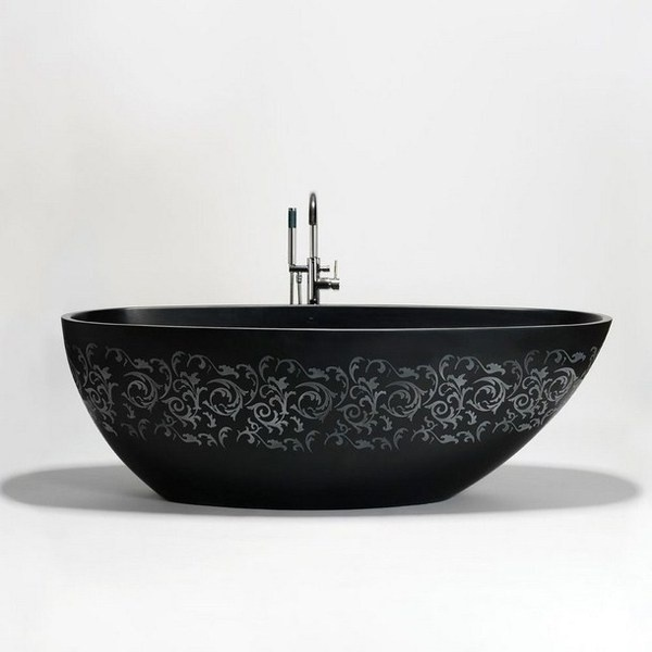 Artistic black bathtub #artistic #bathroom #furniture #art #bathtub