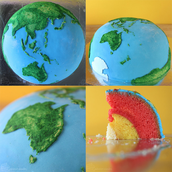 Planetary Structural Layer Cakes Designed by Cakecrumbs #cake #planet #art
