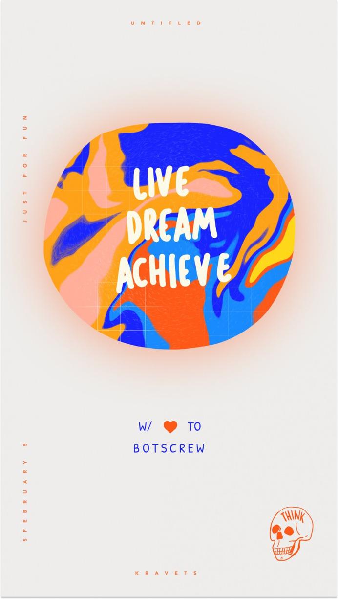 Live Dream Achieve Poster