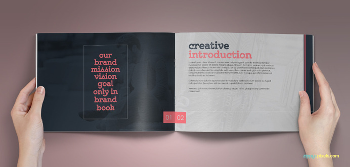 The Classic – Corporate Identity Guidelines Template #inspiration #mockup #print #design #graphic