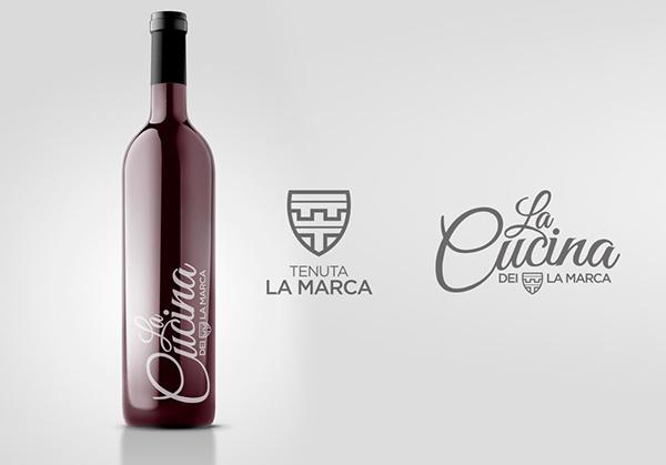 Tenuta La Marca on Behance logo design https://www.behance.net/gallery/18625937/Tenuta-La-Marca #packaging #wine #restaurant #napoli #logo #italy