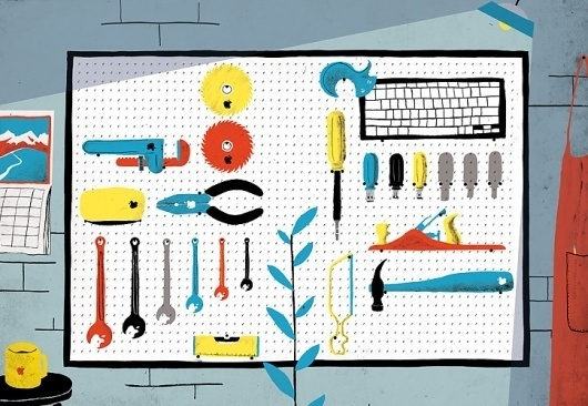 Mac tools - Sam Brewster #illustration #sam #brewster