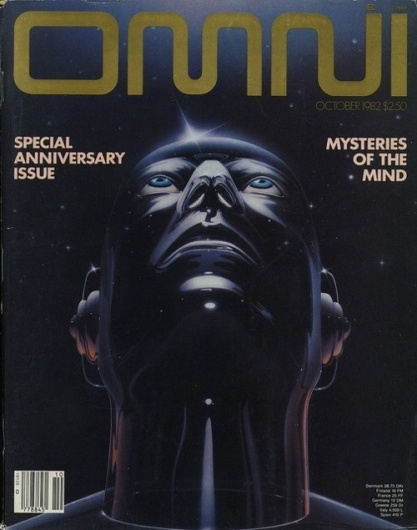 Designersgotoheaven.com -Â 80s Omni Sci-Fi Mag... - Designers Go To Heaven. #magazine #cover #flash #space