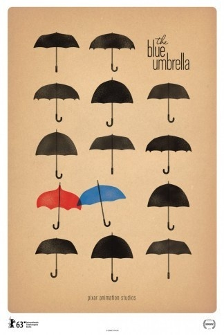 The Blue Umbrella Poster #design #poster
