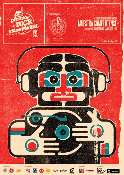 Álvaro Laura Illustration #madrid #rock #laura #illustration #poster #music
