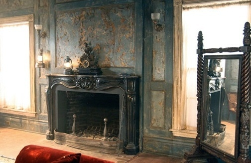 television decor - Set Decorators Society of America #interior #blood #design #texture #set #true