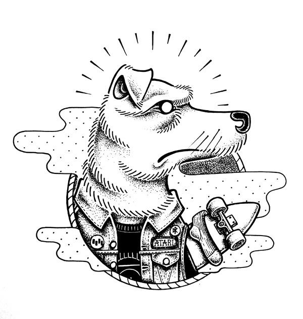 ATARI - Chez Meka #punk #atari #illustration #dead #kennedys #dog