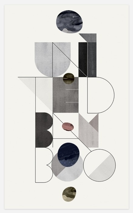 Graphic design / Mario Hugo #type #shapes #abstract