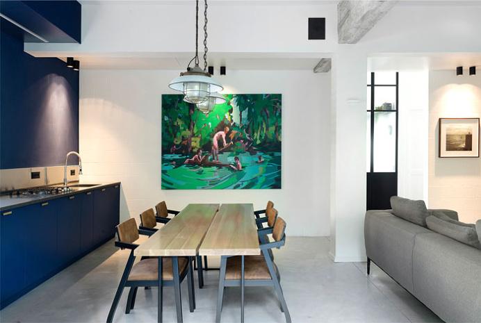 Bauhaus Apartment Redesign by Studio Raanan Stern Architect - home decor, #decor, interior design, decorating ideas