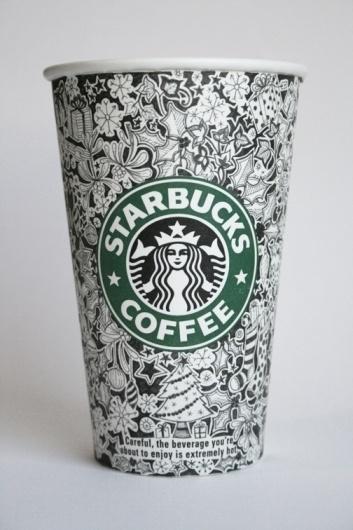 Starbucks Cups #starbucks #design #illustration #johanna #basford