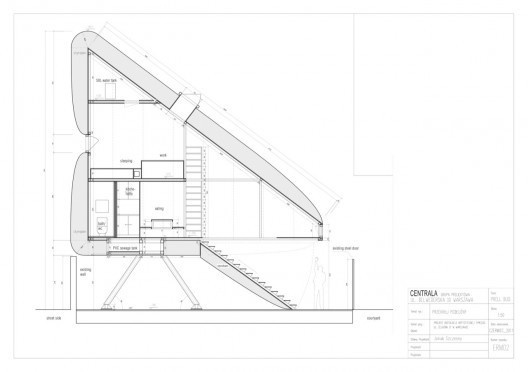 Keret House / Centrala #drawings #sections #architecture #urbandesign