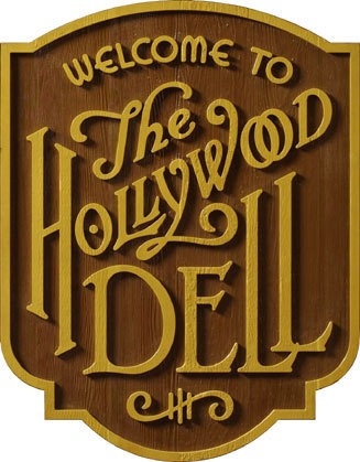 Hollywood Dell Signage #lettering #typography #doret #custom #type #michael