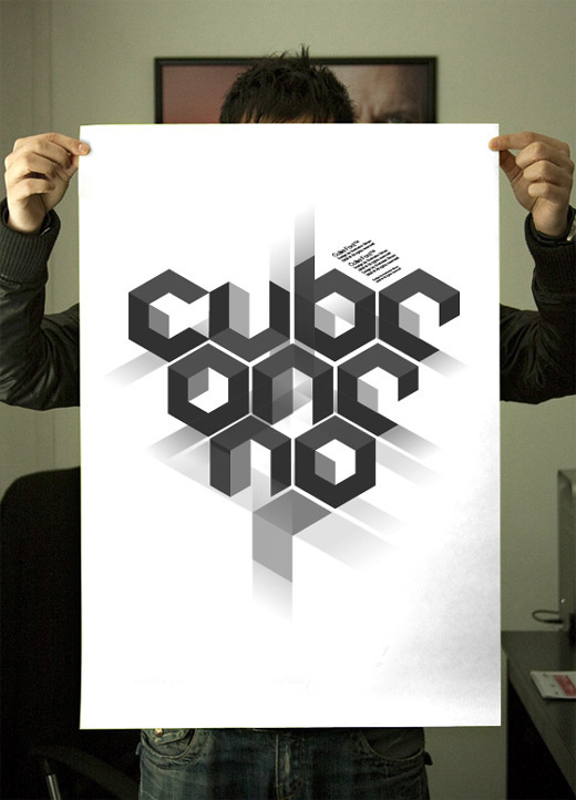 Cube #typography #poster #type #technology #cube