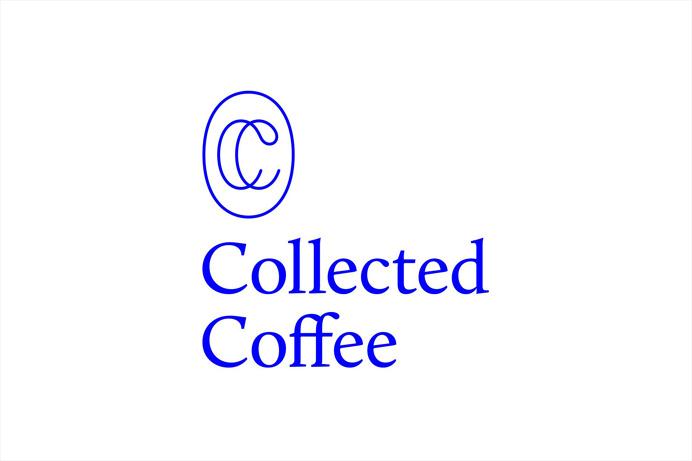 Collected Coffee #monogram #coffee #logo #singleline #ikblue