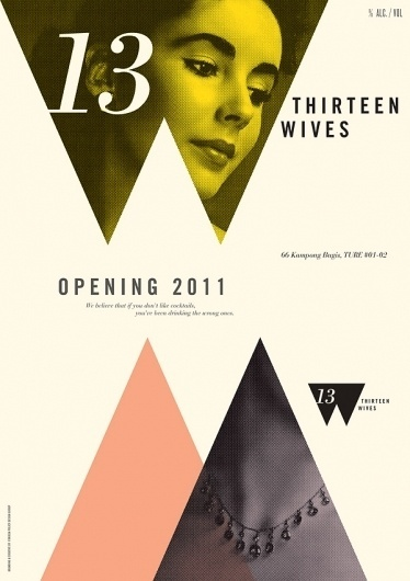 Foreign Policy Design Group » 13 Wives : Posters #halftone #italic #design #photograph #geometric #poster #type