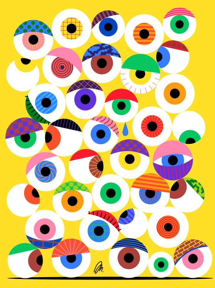 Eyeballs by @mkrnld #eyeballs #illustration #pattern #mkrnld