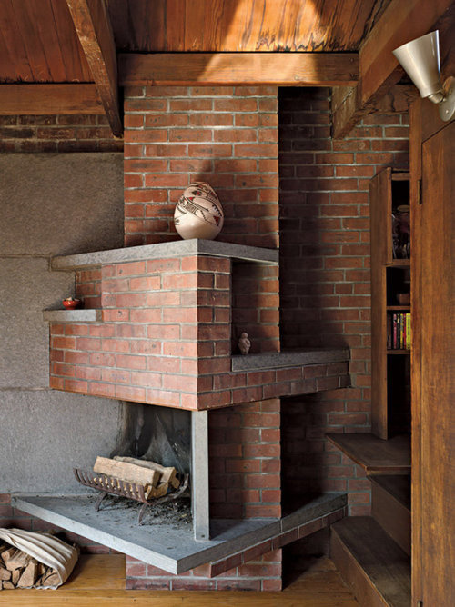 on something, traceycoffin: Anne Tyng's fireplace. #bricks