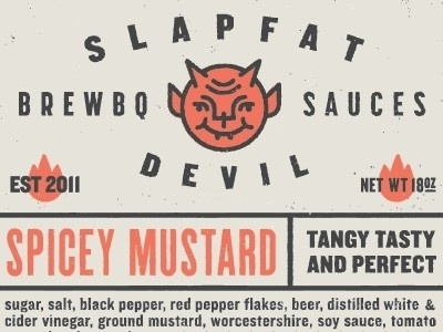 Design / Slapfat Devil Brewbq Sauces, label, design #design #label