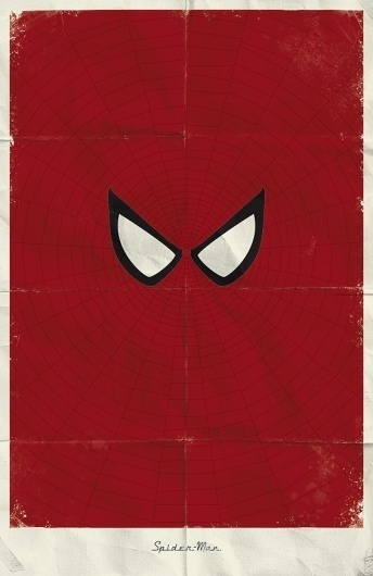 Marvel Minimalist Posters on the Behance Network #red #spiderman #minimal #poster #art #marvel