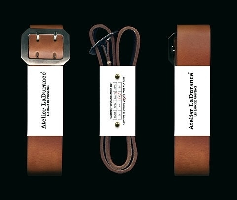 FFFFOUND! | Atelier LaDurance | The Leather Belt Packaging #design #typography