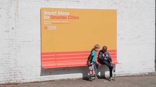 IBM Creates Smart Outdoor Ads With A Purpose   DesignTAXI.com