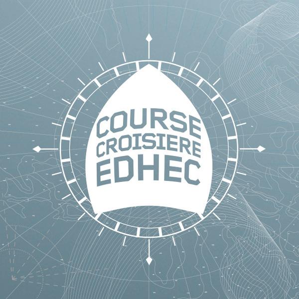Course croisière EDHEC   Phileman Agence de communication et de design Nantes / Lorient #ocean #sport #event #university #map #logo #label #baot #identity #blue #race