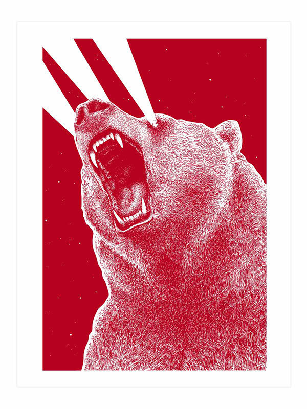 3rd eye Bear – Marceau Truffaut #bear #print #lasers #illustration