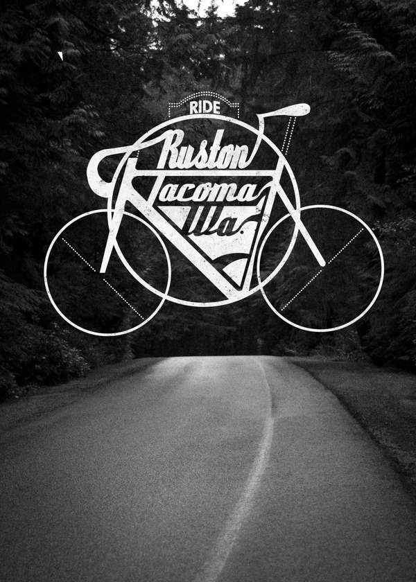 This is one of (expected) four poster logos I have designed for my design business Downpour.This series is titledRide,themed after som #washington #tacoma #bike #logo #ruston