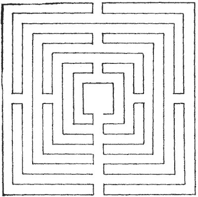 The Project Gutenberg eBook of Amusements In Mathematics, by Henry Ernest Dudeney. #maze