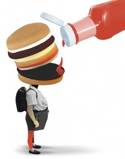 Brett Ryder Illustrations #burger #food #illustration #children #humor