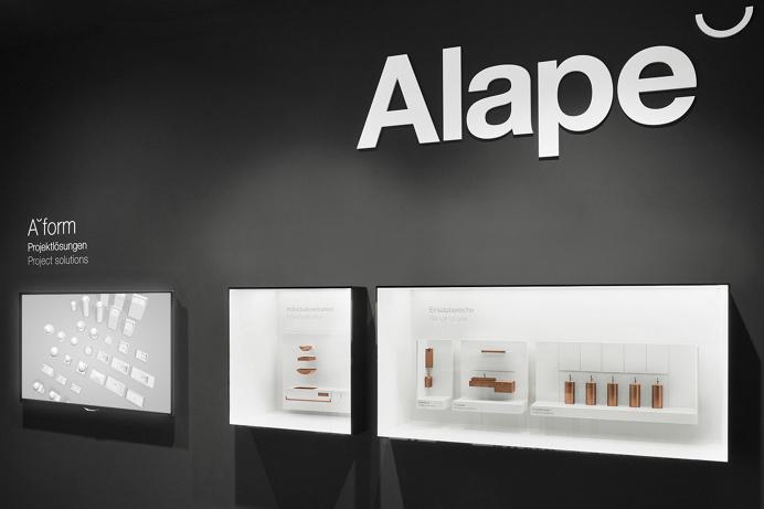Alape interior exhibition design branding corporate identity copper deluxe geometry by Heine/Lenz/Zizka on Mindsparkle Mag