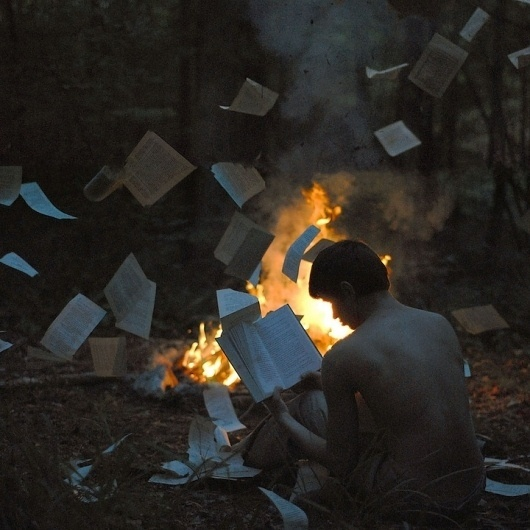 Stunning Self-Portraits by a 17-Year-Old (18 photos) - My Modern Metropolis #fire #photography #books #portrait