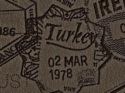 BNBehrens - Turkey #stamp #turkey #travel #bnbehrens #passport